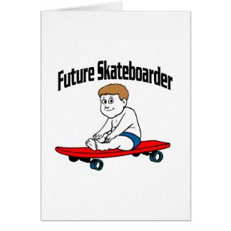 未来のスケートボーダー グリーティングカード