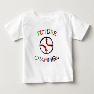未来のチャンピオンの野球 ベビーTシャツ
