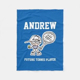 未来のテニス選手のためのフリースブランケットをからかいます フリースブランケット