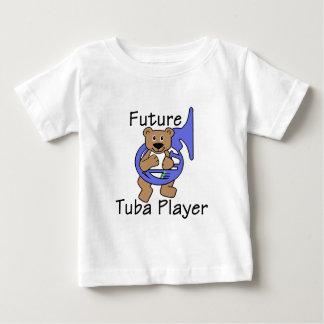 未来のテューバプレーヤーくま ベビーTシャツ