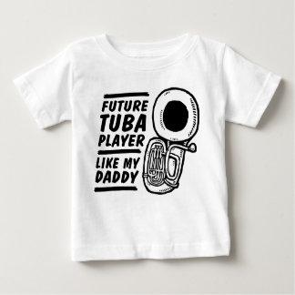 未来のテューバプレーヤーは私のお父さんを好みます ベビーTシャツ