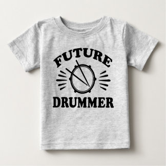 未来のドラマー ベビーTシャツ