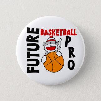 未来のバスケットボールのプロソックス猿 缶バッジ