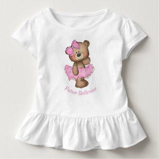 未来のバレリーナくまの幼児のひだのティー トドラーTシャツ