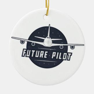 未来のパイロットのオーナメント セラミックオーナメント