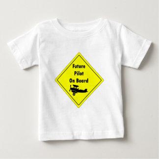 未来のパイロット船上に ベビーTシャツ