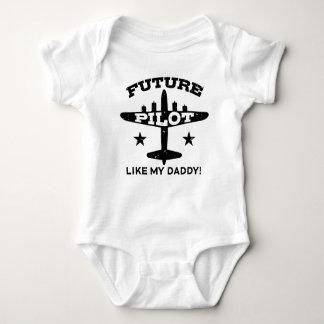 未来のパイロット ベビーボディスーツ