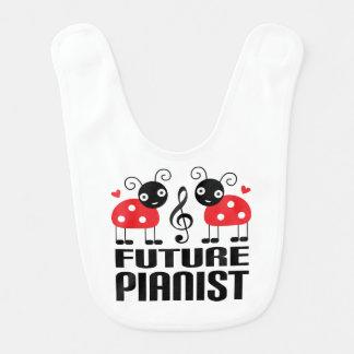 未来のピアニストの名前入りなよだれかけ ベビービブ