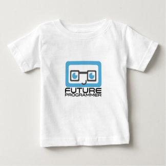 未来のプログラマー -- 青い ベビーTシャツ