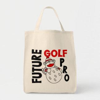 未来のプロゴルファーのソックス猿 トートバッグ