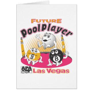 未来のプールプレーヤー-ピンク カード