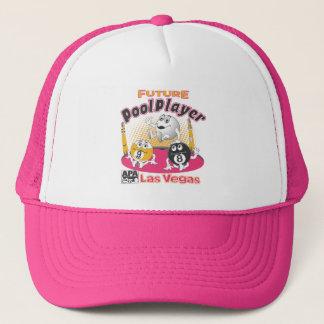 未来のプールプレーヤー-ピンク キャップ