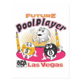 未来のプールプレーヤー-ピンク ポストカード