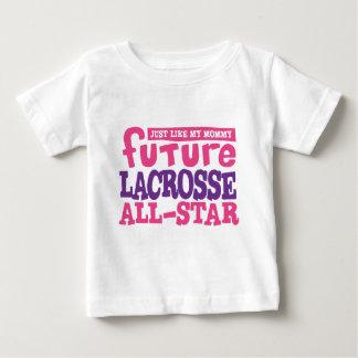 未来のラクロスオールスター-女の子 ベビーTシャツ