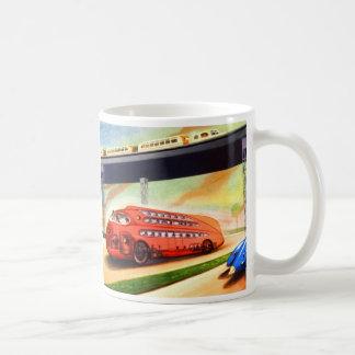 未来のレトロのヴィンテージのサイファイのナチのドイツバス コーヒーマグカップ