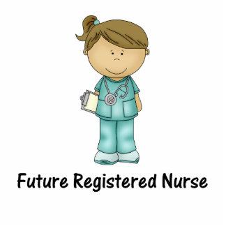 未来の公認看護師 写真彫刻(台付き)