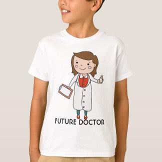 未来の医者、女の子 Tシャツ