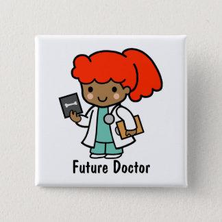 未来の医者 5.1CM 正方形バッジ