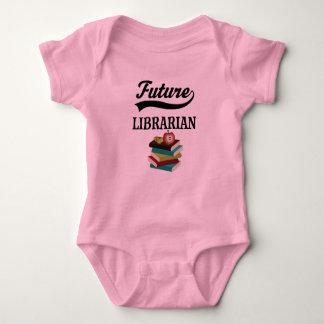 未来の司書の子供のワイシャツ ベビーボディスーツ