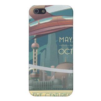 未来の地球への宇宙旅行ポスター iPhone 5 ケース