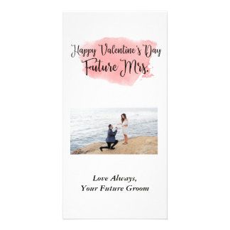 未来の夫人バレンタインデーの写真カード カード