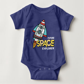 未来の宇宙探検家 ベビーボディスーツ