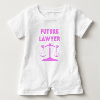 未来の弁護士 ベビーロンパース
