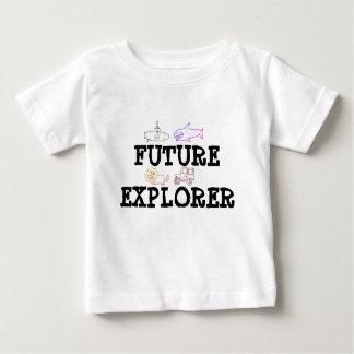 未来の探検家のための幼児の女の子か男の子のTシャツ ベビーTシャツ