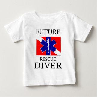 未来の救助のダイバー ベビーTシャツ
