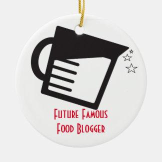 未来の有名な食糧ブロガー セラミックオーナメント