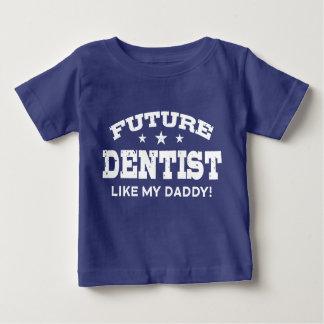 未来の歯科医は私のお父さんを好みます ベビーTシャツ