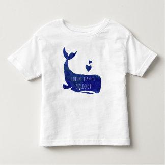 未来の海洋の生物学者のクジラの幼児の男の子のワイシャツ トドラーTシャツ