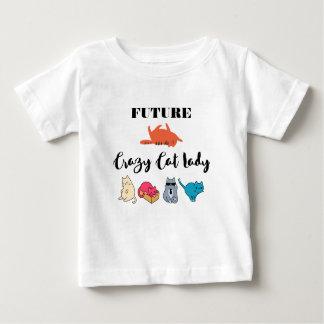 未来の熱狂するな猫の女性-かわいい子猫のイラストレーション ベビーTシャツ