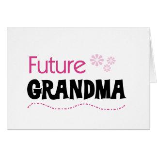 未来の祖母のTシャツおよびギフト カード