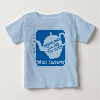 未来の納税者の幼児のTシャツ ベビーTシャツ