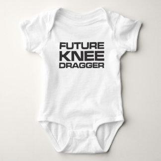 未来の膝のDraggerのベビーのワイシャツ ベビーボディスーツ