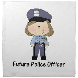 未来の警官(女の子) ナプキンクロス
