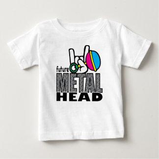 未来の金属の頭部の~のグラフィックのティー ベビーTシャツ