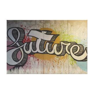「未来の」落書きのデザイン キャンバスプリント