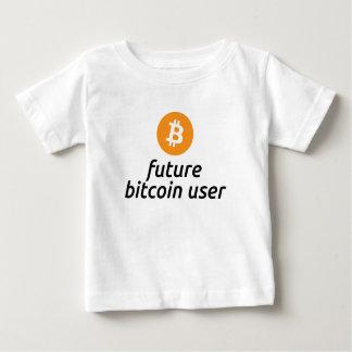 未来のBitcoinのユーザーのベビーのワイシャツ ベビーTシャツ