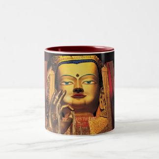 未来のBuddahのマグの赤か白 ツートーンマグカップ
