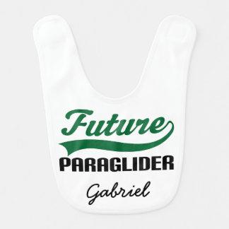 未来のParagliderの名前入りなベビー用ビブ ベビービブ