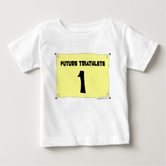 未来のTriathleteの乳児のティー ベビーTシャツ