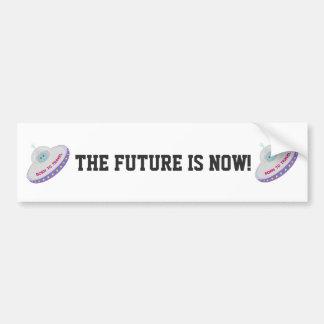 未来は今Soucerを飛ばしています バンパーステッカー