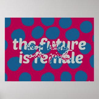 未来は女性の(私達の女の子を殺す停止)ポスターです ポスター