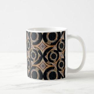 未来派の円の抽象的なパターン コーヒーマグカップ