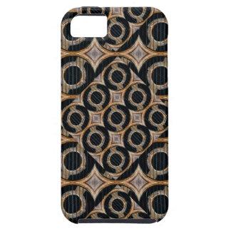 未来派の円の抽象的なパターン iPhone SE/5/5s ケース