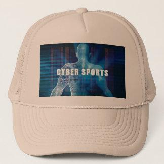 未来派の概念の抽象芸術としてサイバーのスポーツ キャップ