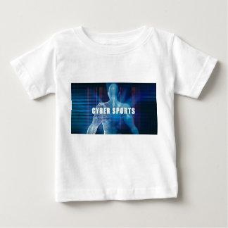 未来派の概念の抽象芸術としてサイバーのスポーツ ベビーTシャツ