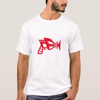 未来派の赤レーザー銃 Tシャツ